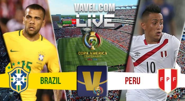Resultado Brasil x Peru na Copa América Centenário 2016 (0-1)