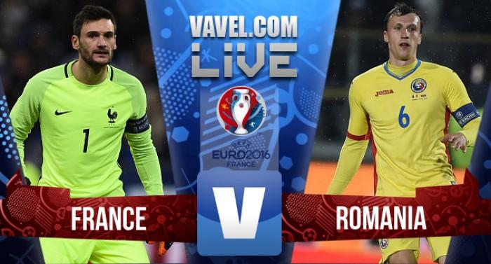 Resultado França x Romênia na Eurocopa (2-1)