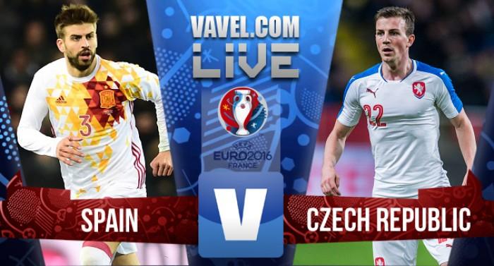 Resultado Espanha x República Tcheca pela Euro 2016 (1-0)