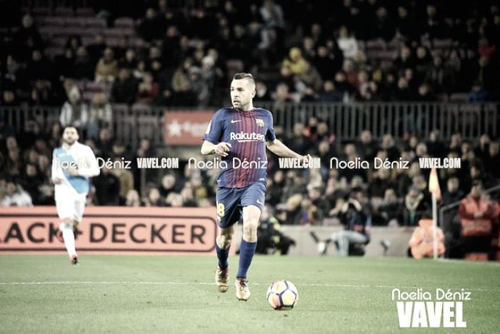 """Jordi Alba: """"Hemos hecho un muy buen partido y es para estar contentos"""""""