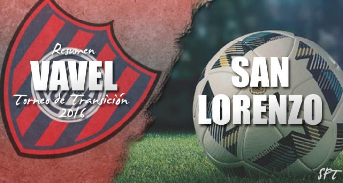 Resumen VAVEL Torneo de Transición 2016: San Lorenzo
