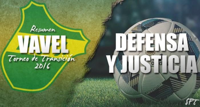 Resumen VAVEL Torneo de Transición 2016: Defensa y Justicia