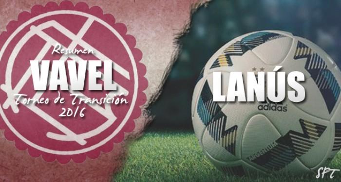 Resumen VAVEL Torneo de Transición 2016: Lanús