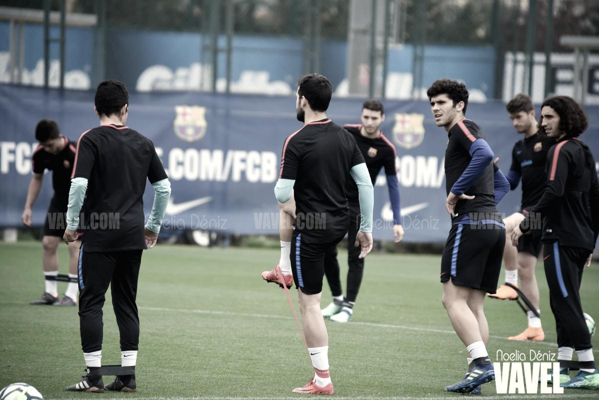 Fotos e imágenes del entrenamiento del Barça B previo al enfrentamiento contra el Huesca