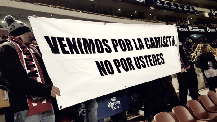Aficionados se manifiestan ante los malos resultados del Atlético de San Luis