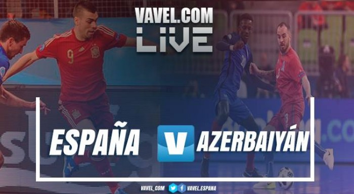 Resumen del España 1-0 Azerbaiyán en UEFA Futsal Euro 2018