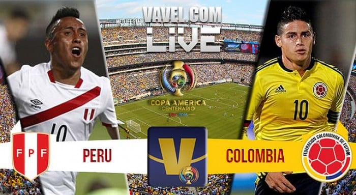 Score Colombia vs Peru in Copa America Centenario Quarterfinal (0-0)