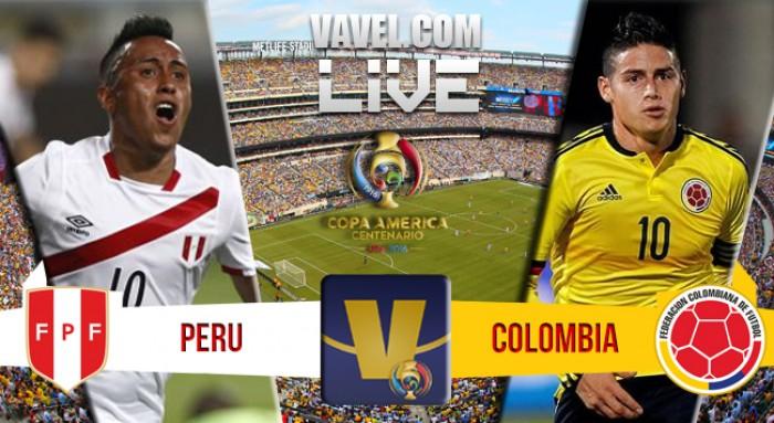 Resultado Peru (2) x Colômbia (4) na Copa América Centenário (0-0)