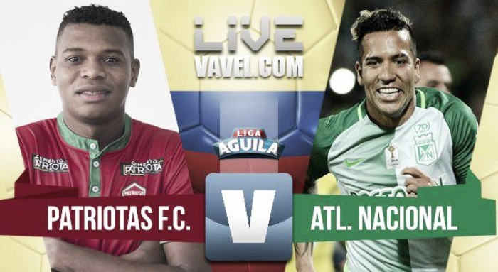 Patriotas lo dio vuelta venció a Atlético Nacional 3-1