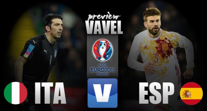 Em reedição da última final, Itália e Espanha duelam pelas oitavas da Eurocopa