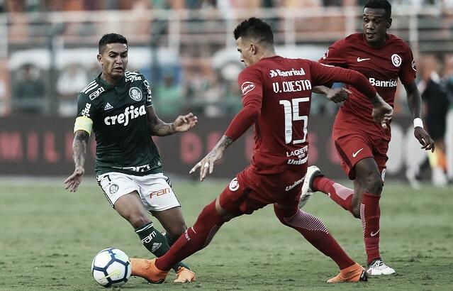 Internacional domina primeiro tempo, Palmeiras se recupera e busca empate no Beira-Rio