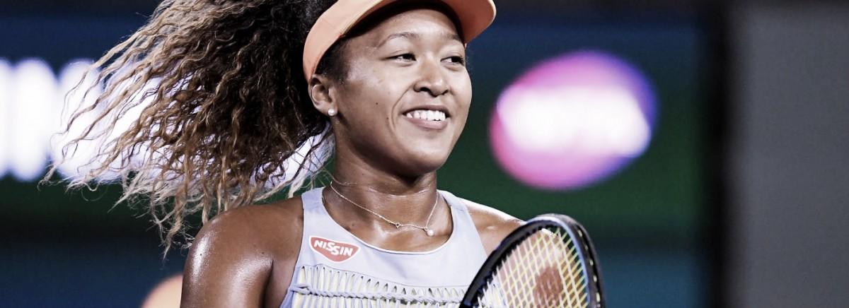Osaka arrasa Halep em Indian Wells e vai encarar Kasatkina na decisão