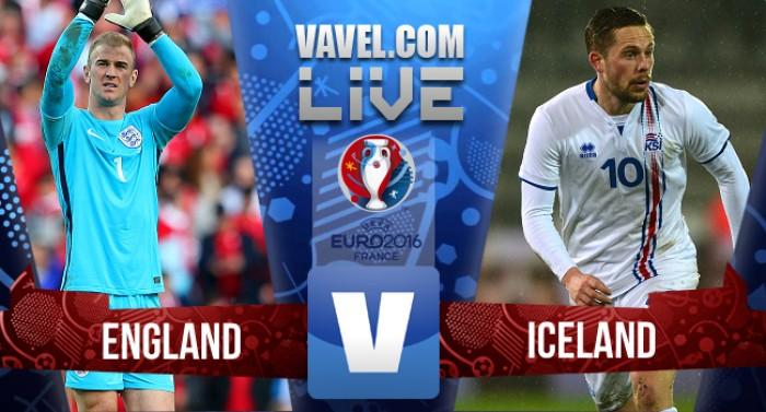 Inglaterra x Islândia hoje (1-2)