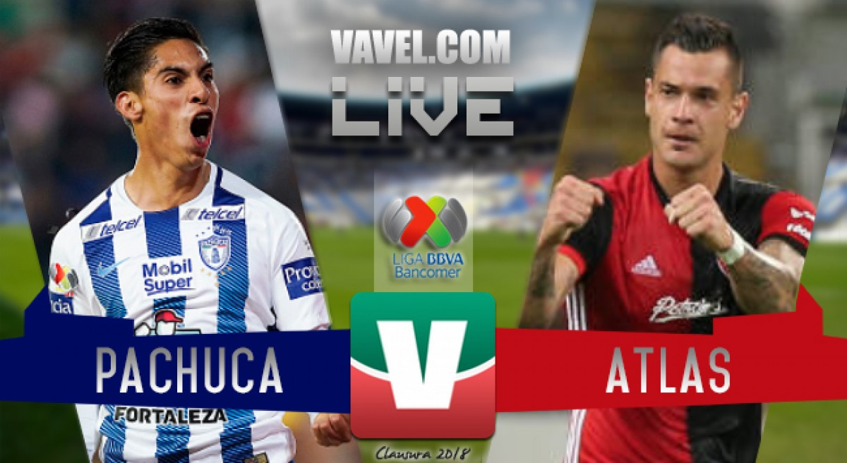 Resultado del Pachuca vs Atlas en Liga MX 2018 0-0