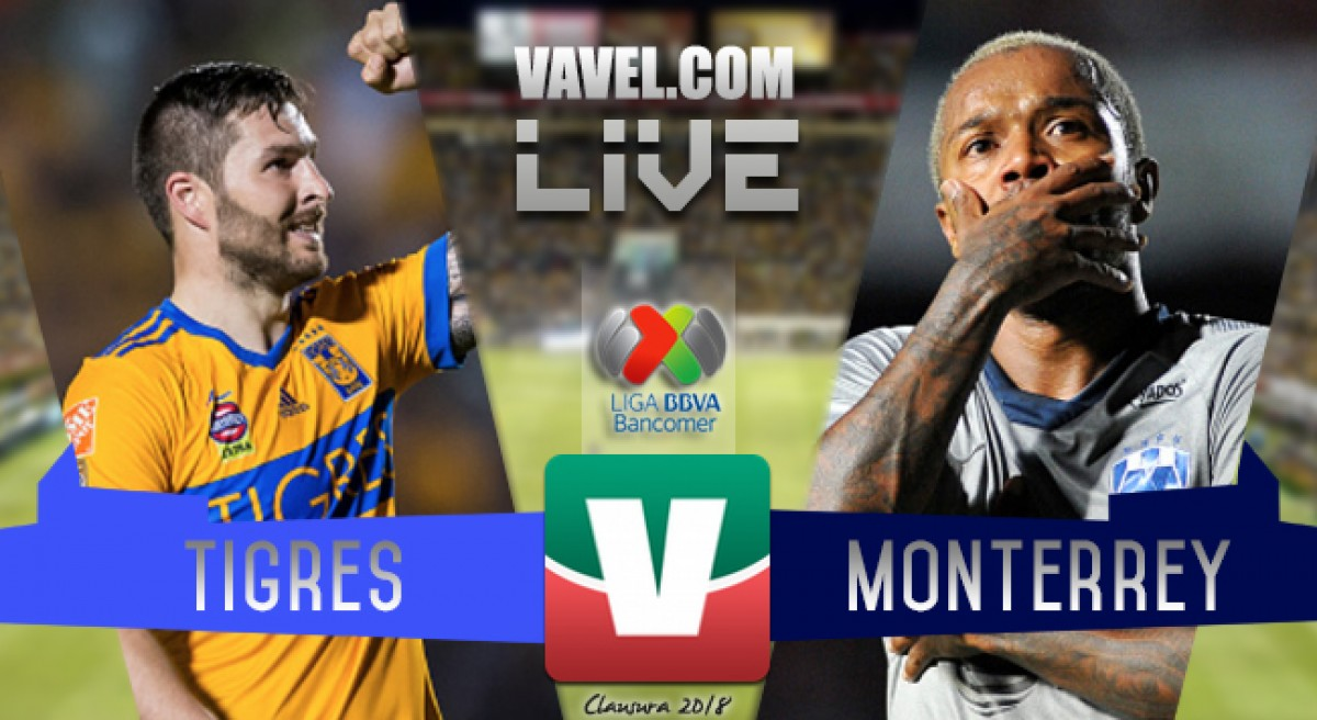 Resultado y goles del partido Tigres (2-2) Rayados de Monterrey