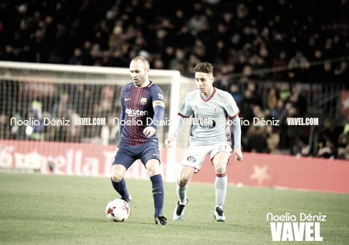 Iniesta, duda para el derbi de Copa del Rey