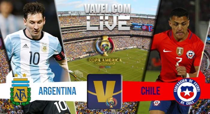 O Chile é campeão da Copa América Centenário2016