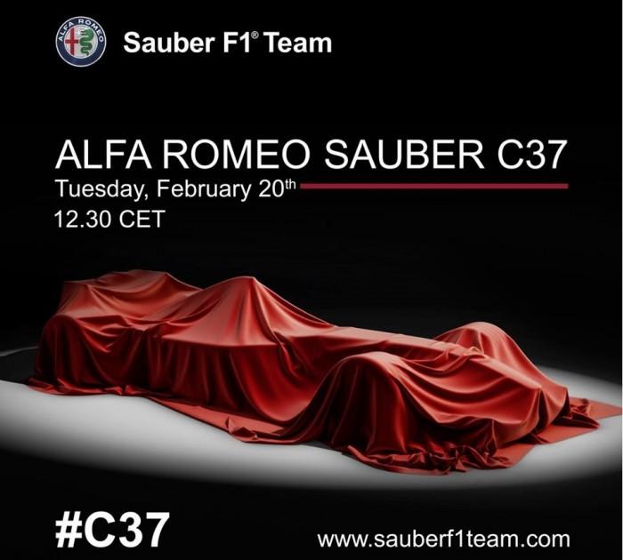 Alfa Romeo-Sauber - Via i veli dalla C37, presentazione il 20