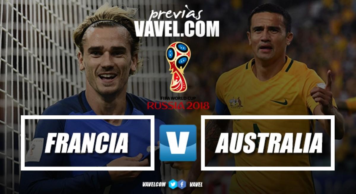 Previa Francia - Australia: el estreno de un candidato azul