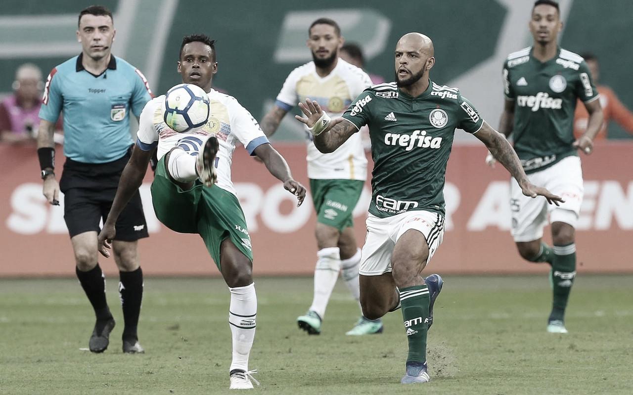 Em busca de primeira vitória, Palmeiras e Chapecoense se enfrentam no Brasileirão