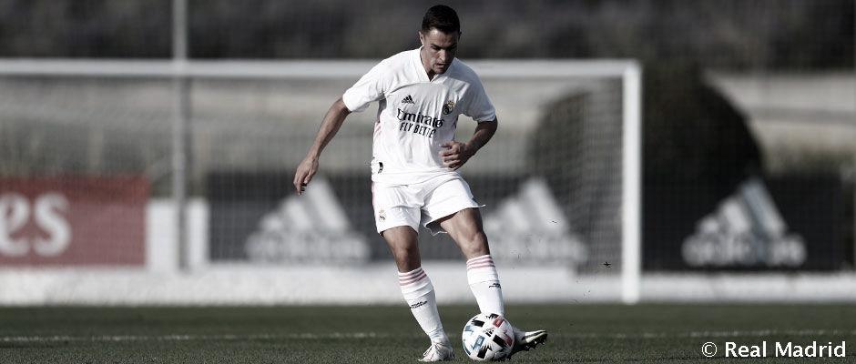 Guillem, durante un partido con el Castilla | Fuente: www.realmadrid.com
