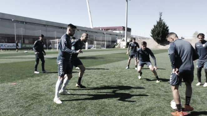 Penúltima sesión de entrenamiento de cara al partido ante Almería