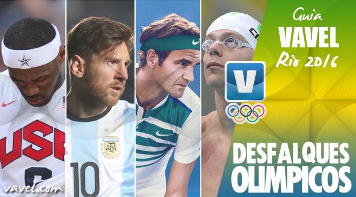 Principais estrelas do esporte estarão ausentes na Olimpíada do Rio de Janeiro