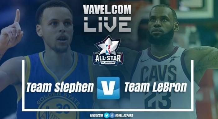 Resumen NBA All-Star 2018 en vivo: Team LeBron vs Team Stephen en directo online (148-145)