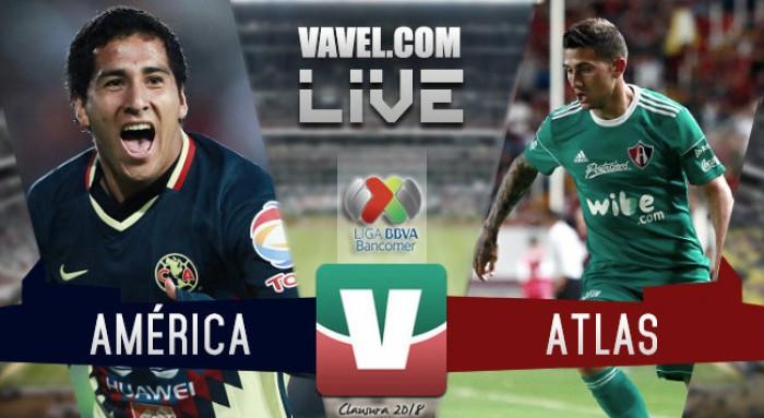 Resultado y gol del América vs Atlas en Liga MX 2018 (1-0)