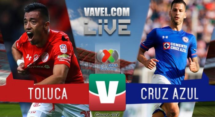 Resultado y goles del Toluca 1-1 Cruz Azul de la Liga MX 2018