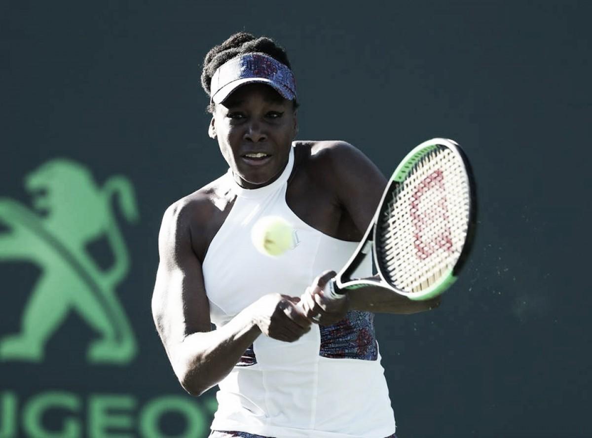 Venus derrota a atual campeã Johanna Konta na quarta rodada do Premier de Miami