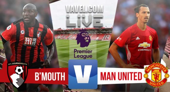 Resultado Bournemouth x Manchester United pela Premier League 2016/17 (1x3)