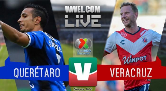 Resultado y goles del Querétaro 0-1 Veracruz de la Liga MX 2018
