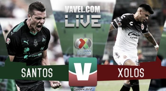 Santos vs Xolos en vivo online en Liga MX 2018 (0-0)