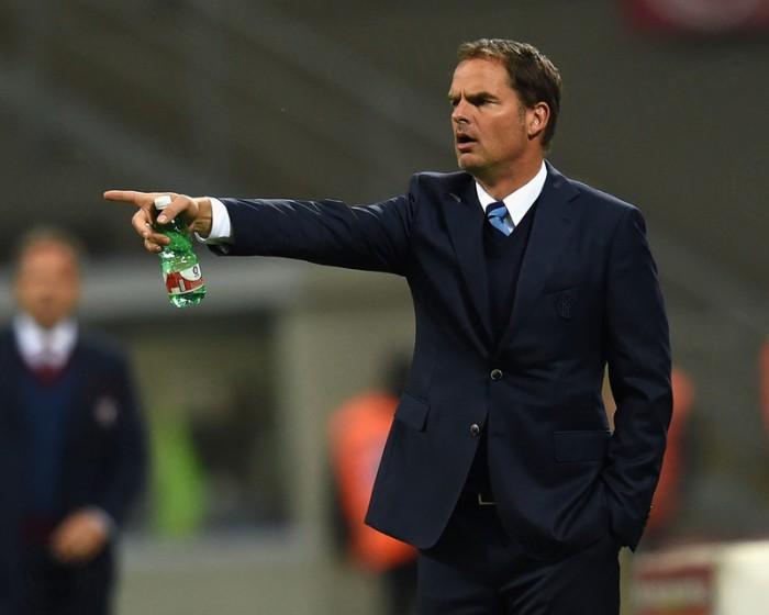 Frank De Boer nel post partita di Inter-Torino