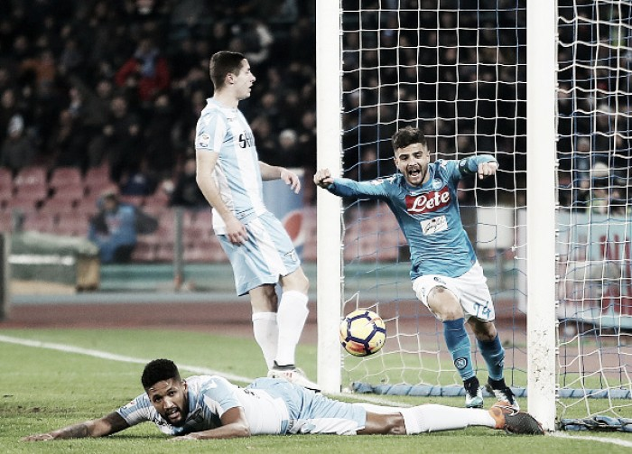 Napoli vence Lazio de virada e se mantém na liderança do Campeonato Italiano