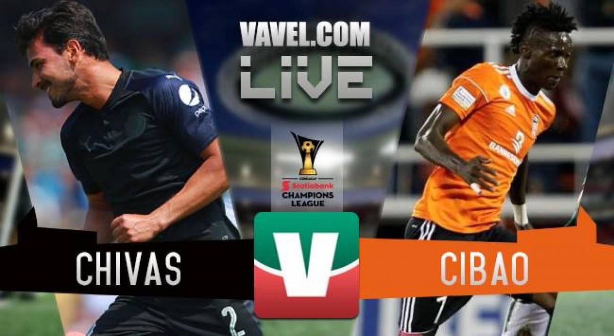 Resultado y goles del Chivas 5-0 Cibao de la CONCACHAMPIONS 2018