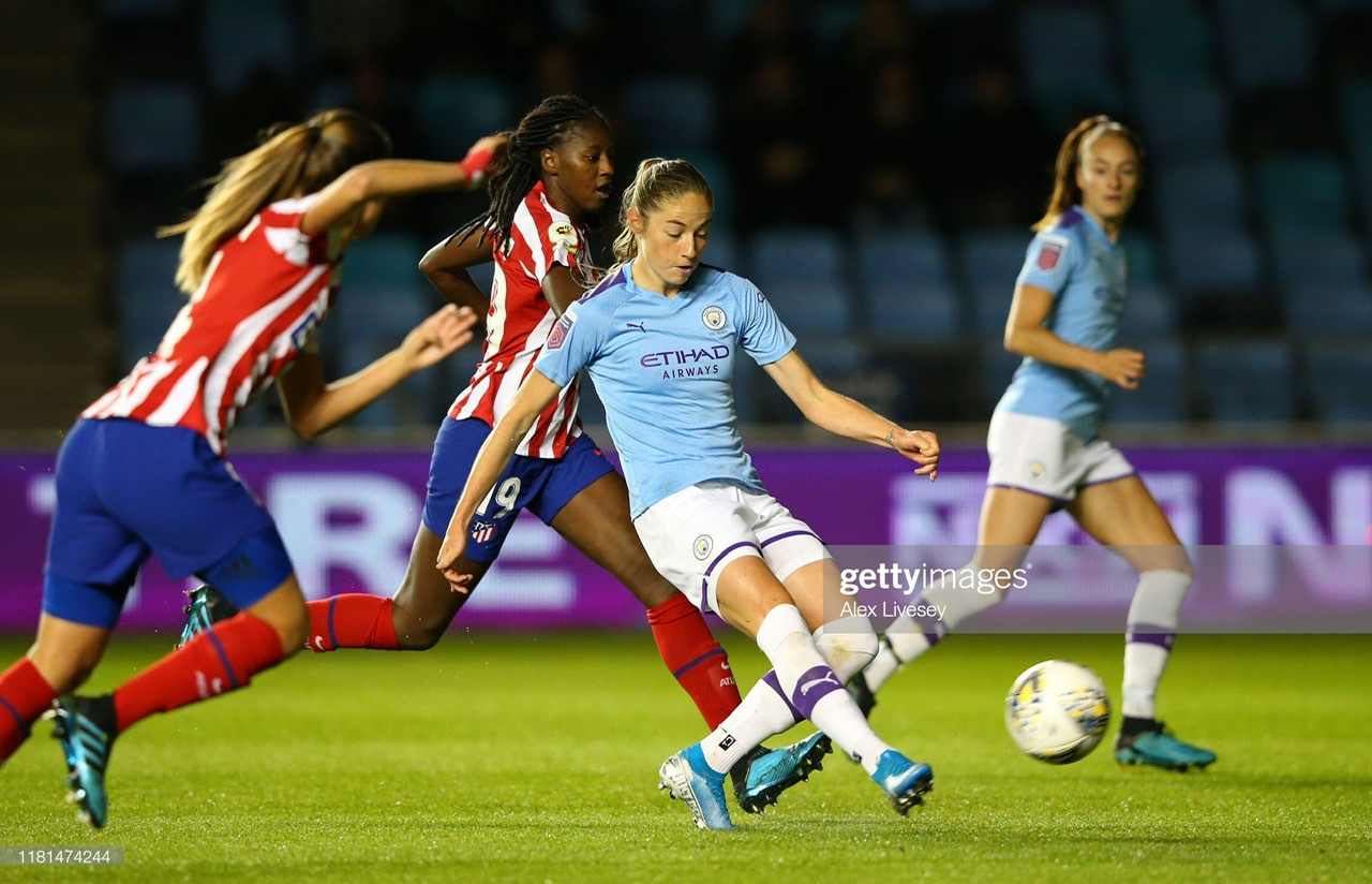 Manchester City Women 1-1 Atlético Madrid Femenino: Spoils shared before return tie