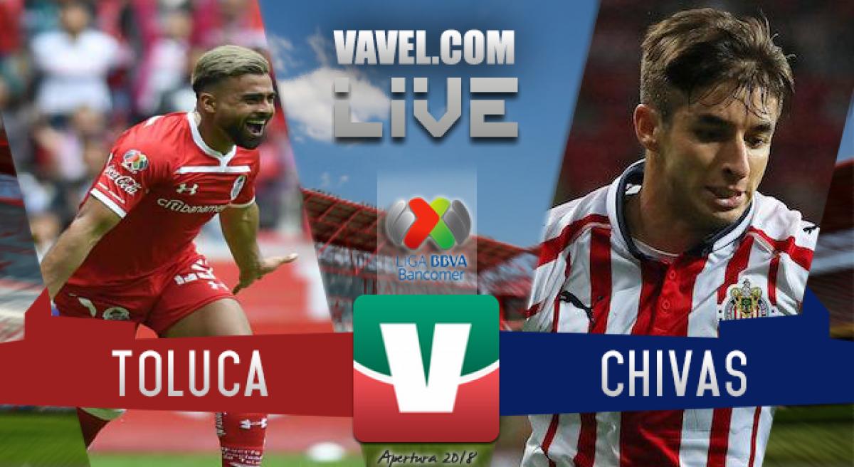 Toluca y Chivas empatan a dos goles en