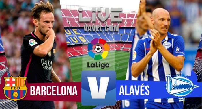 Resultado Barcelona x Alavés no jogo Campeonato Espanhol 2016 (1-2)