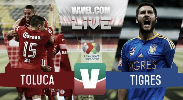 Resultado y goles del Toluca (0-1) Tigres