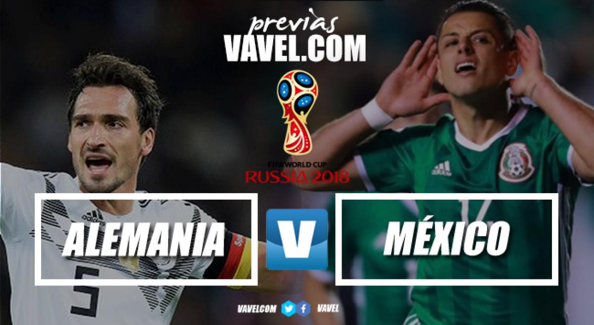 Previa México - Alemania: llegó la hora esperada