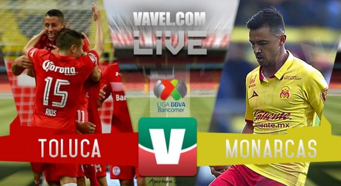 Resultado y goles del Toluca vs Monarcas Morelia en Liga MX 2017 (0-1)