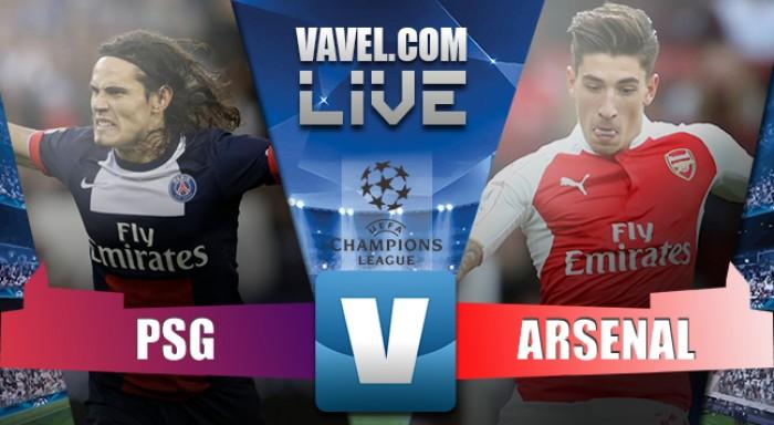 Risultato PSG 1-1 Arsenal in Champions League 2016/17: Cavani al primo minuto, Sanchez nel finale