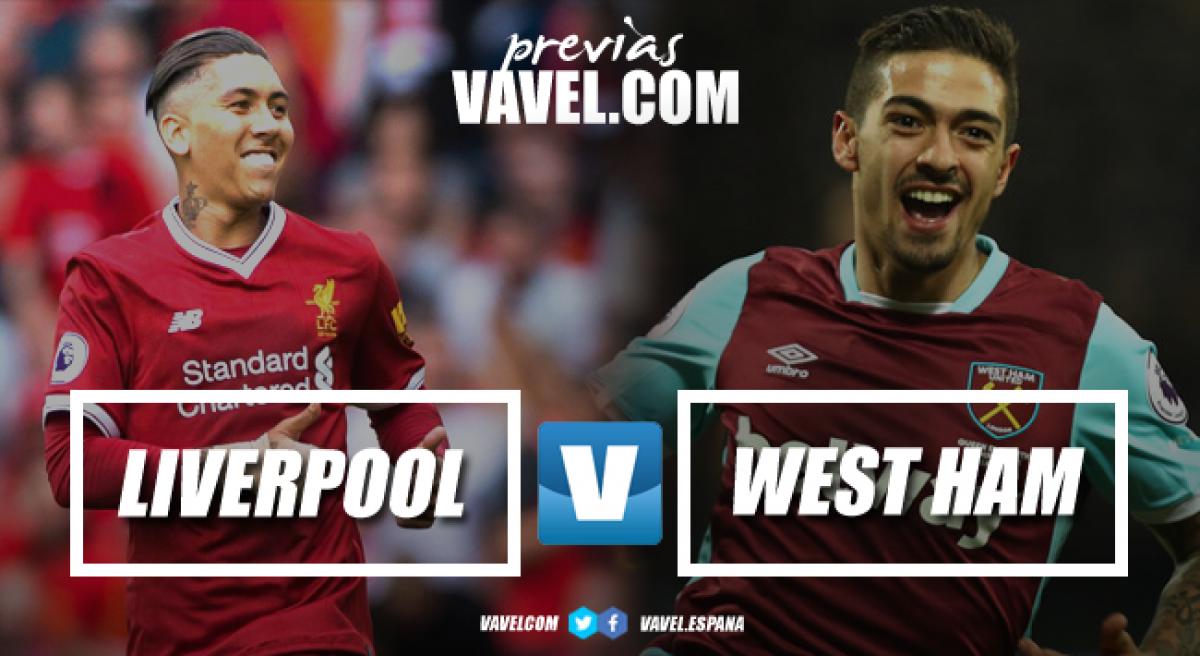"""Previa Liverpool - West Ham: Los Hammers quieren dar el primer """"martillazo"""" en Anfield"""