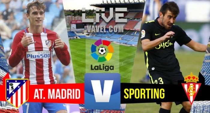 Resultado Atlético de Madrid x Sporting Gijón pelo Campeonato Espanhol 2016/2017 (5-0)