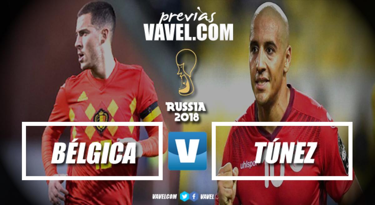 Favorita, Bélgica busca classificação antecipada diante deesperançosa Tunísia