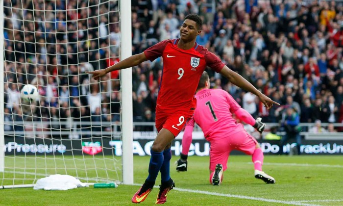 Image result for Rashford was among those to score a penalty for England against Colombia