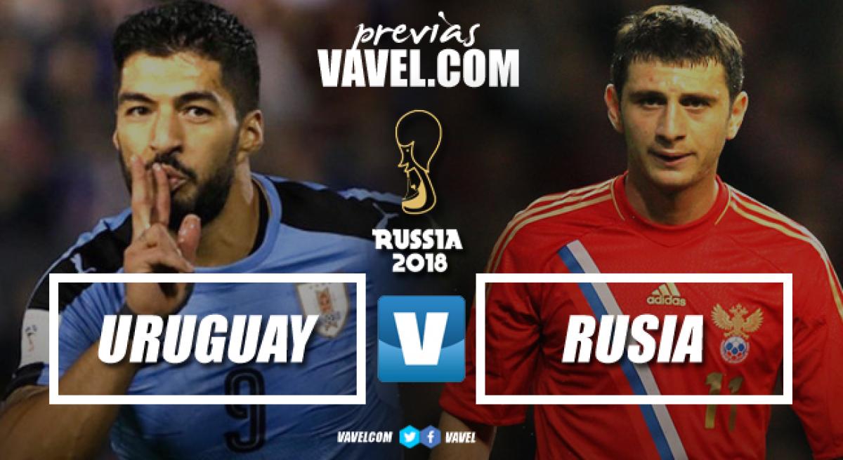Previa Rusia vs Uruguay: en juego el liderato del grupo A