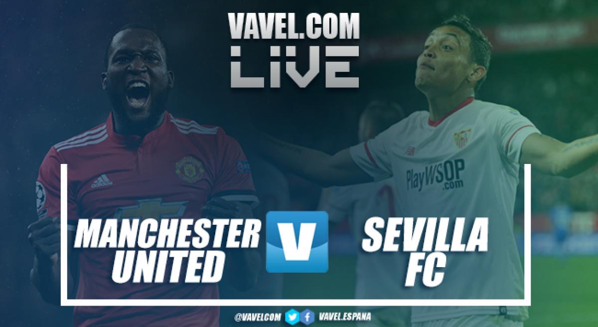 Terminata Manchester United - Siviglia , Live Champions League 2017/18 (1-2): Montella in paradiso e Siviglia ai quarti!